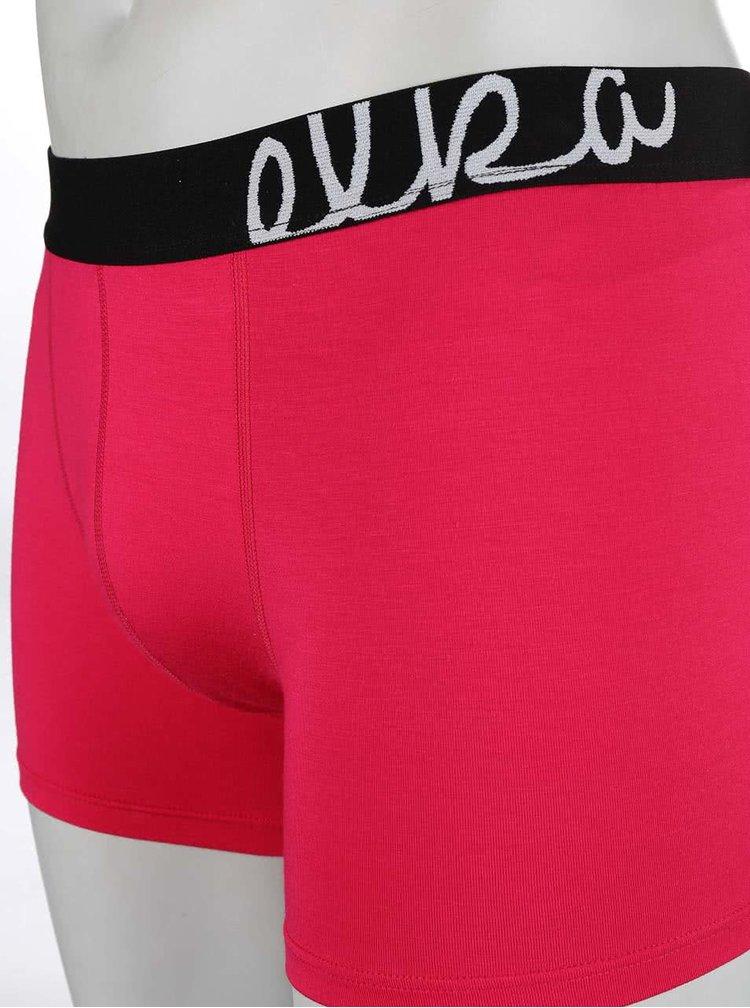 Růžové boxerky s černou gumou El.Ka Underwear