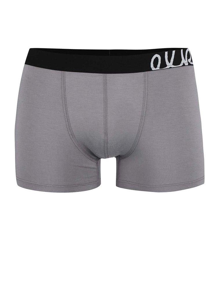 Šedé boxerky s černou gumou El.Ka Underwear