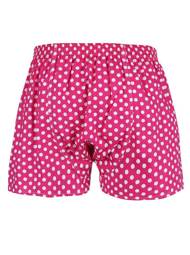Boxeri roz cu buline pentru barbati - El.ka Underwear