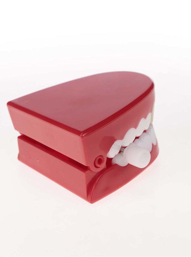Červené natahovací cvakající zuby Ridley's