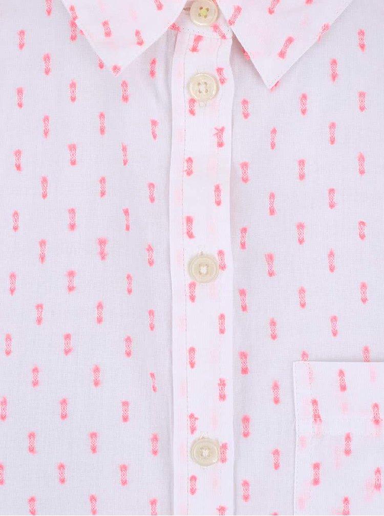Biela dlhšia dámska košeľa so vzormi Tom Joule Tippy
