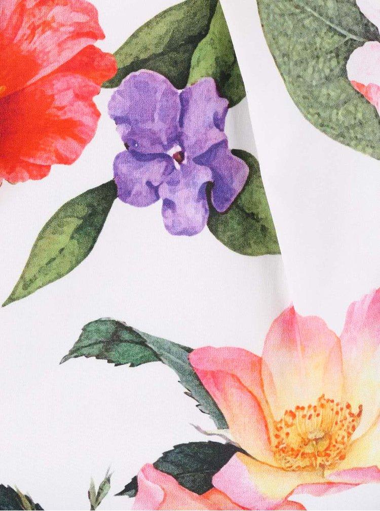 Rochie Closet crem cu print floral