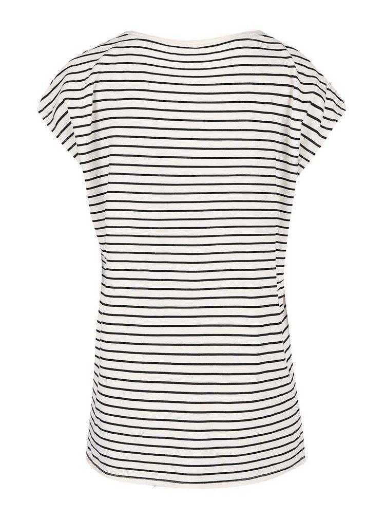 Bílé pruhované dámské tričko Tom Joule Rosy
