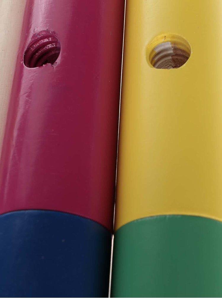 Barevný dřevěný set na kroket Ridley's