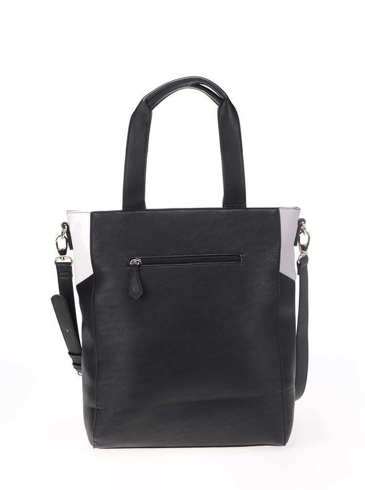 Čierno-bielo-sivá väčšia kabelka Anna Smith