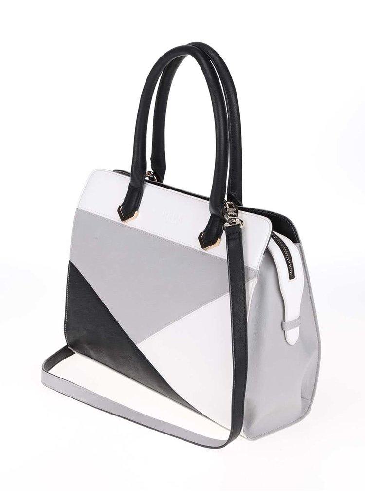 Čierno-bielo-sivá kabelka DSUK