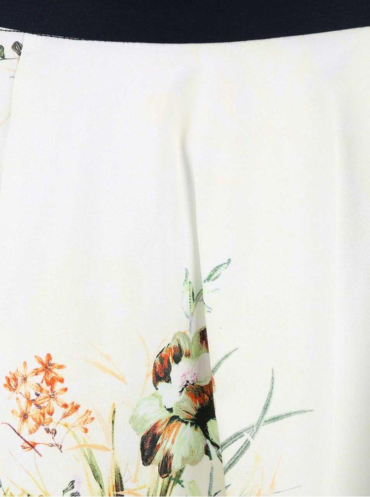 Fustă Closet albă cu print