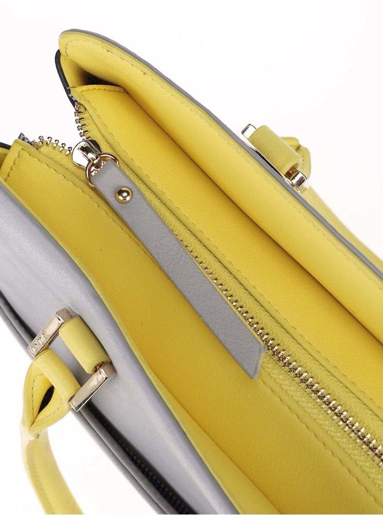 Geantă LYDC gri/galbenă