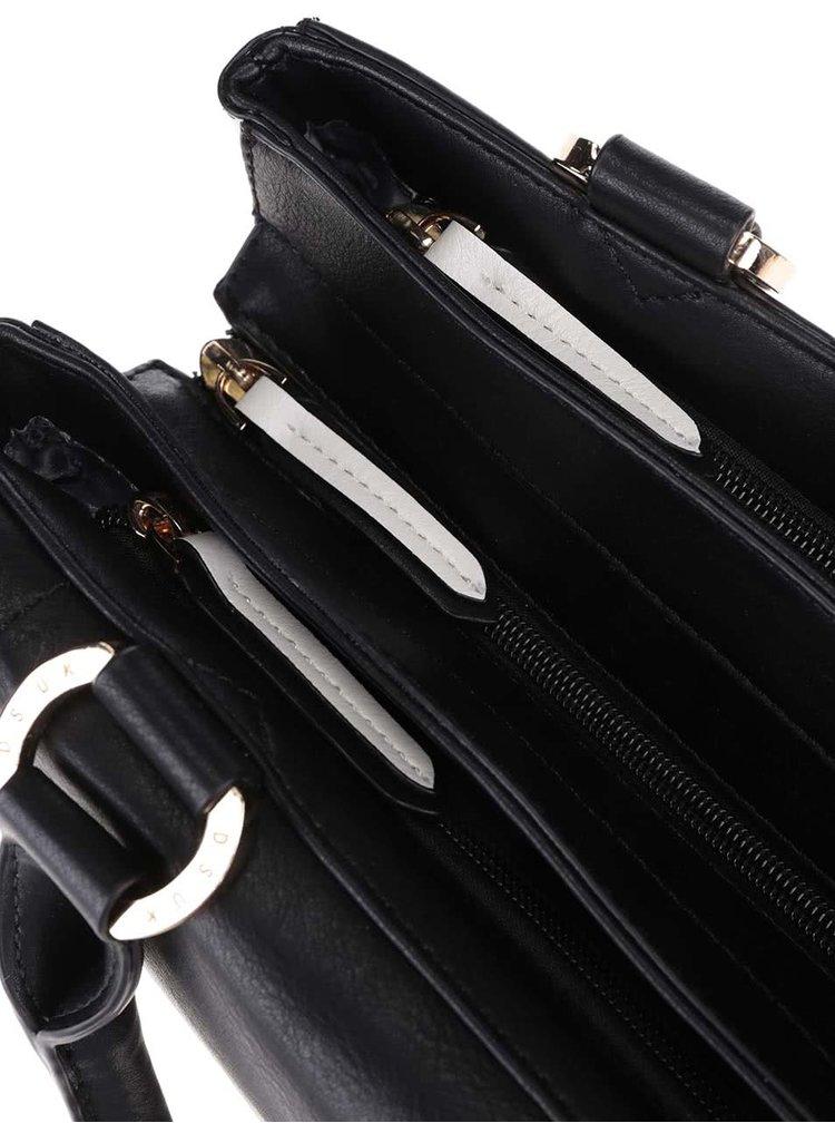 Bielo-čierna kabelka s detailmi v zlatej farbe DSUK