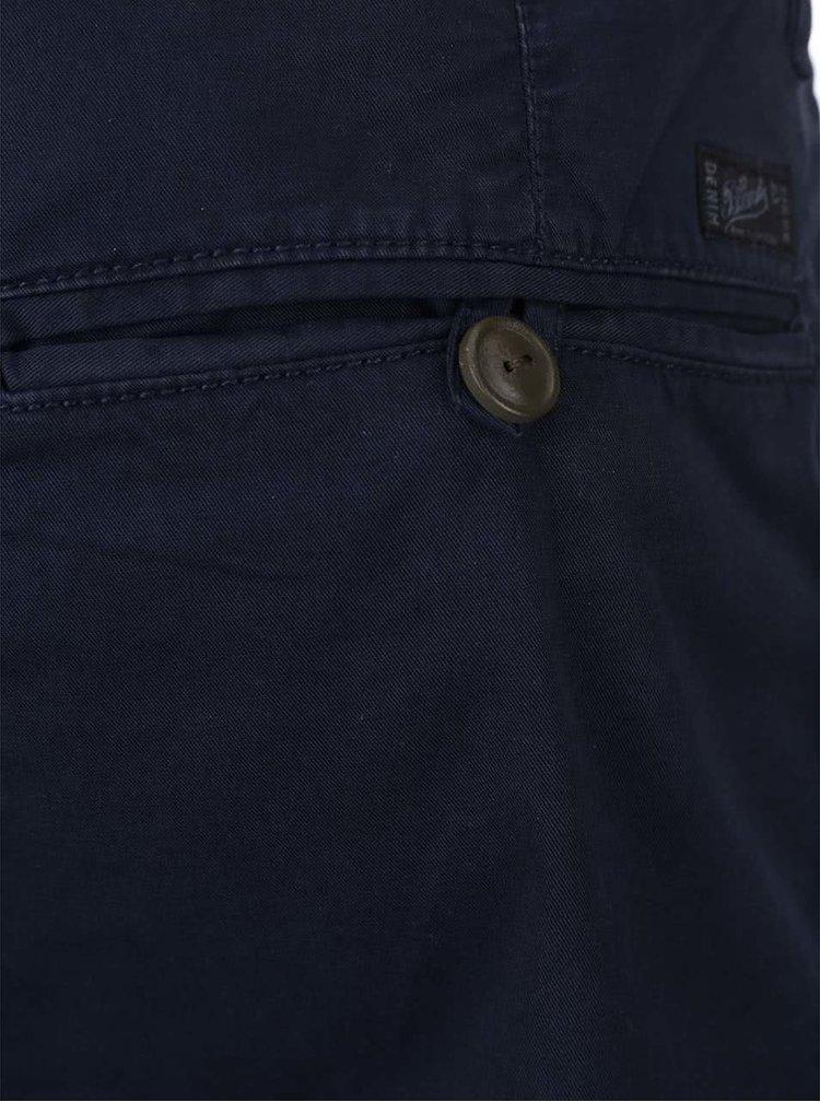 Tmavě modré kraťasy s barevným zavazováním Blend