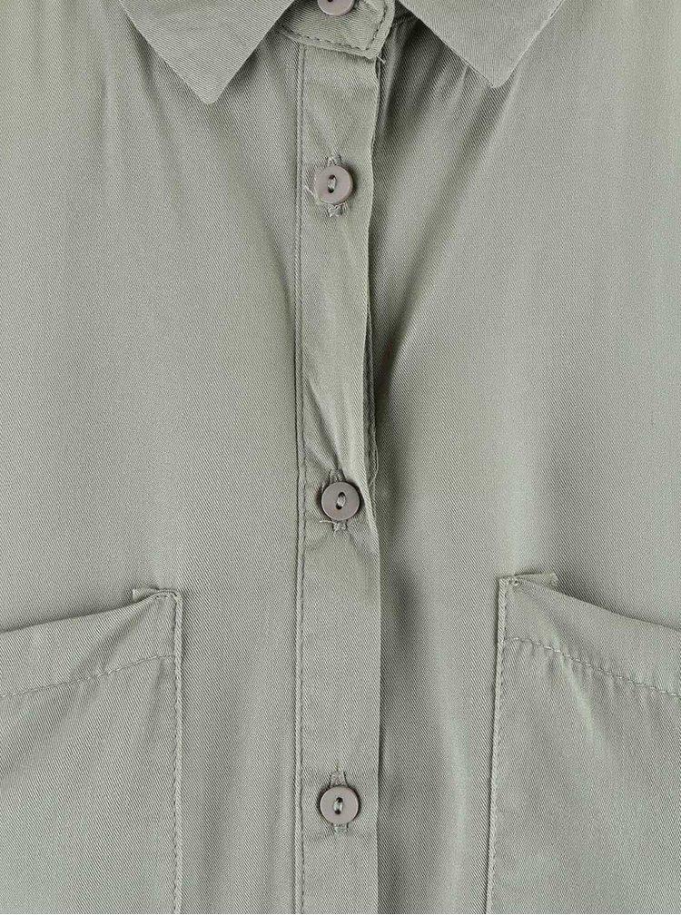 Bluza tip camasa Haily's Pam verde-olive