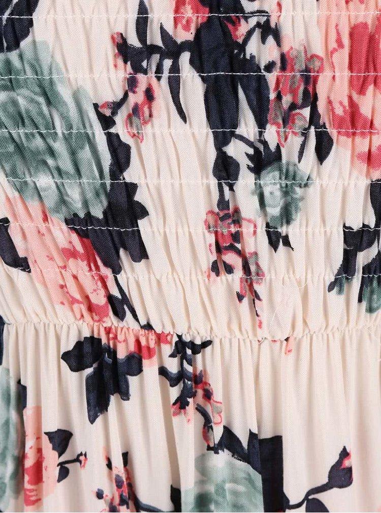 Krémové šaty s potiskem květin Haily´s Dina