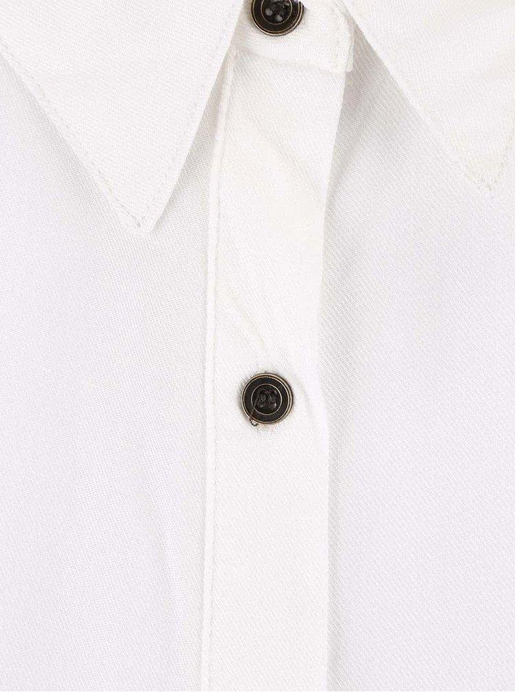 Krémová blúzka so zaväzovaním v páse Haily´s Oliva
