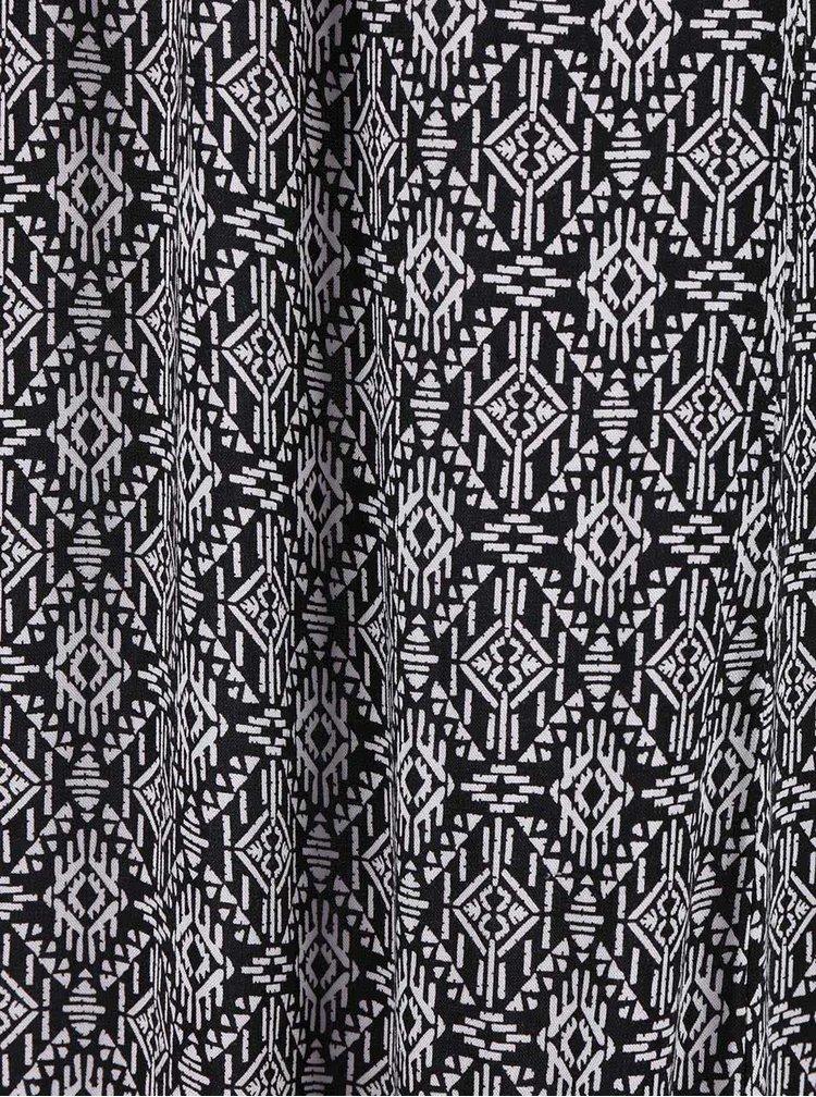Bílo-černé maxišaty Zabaione Kleid Summer