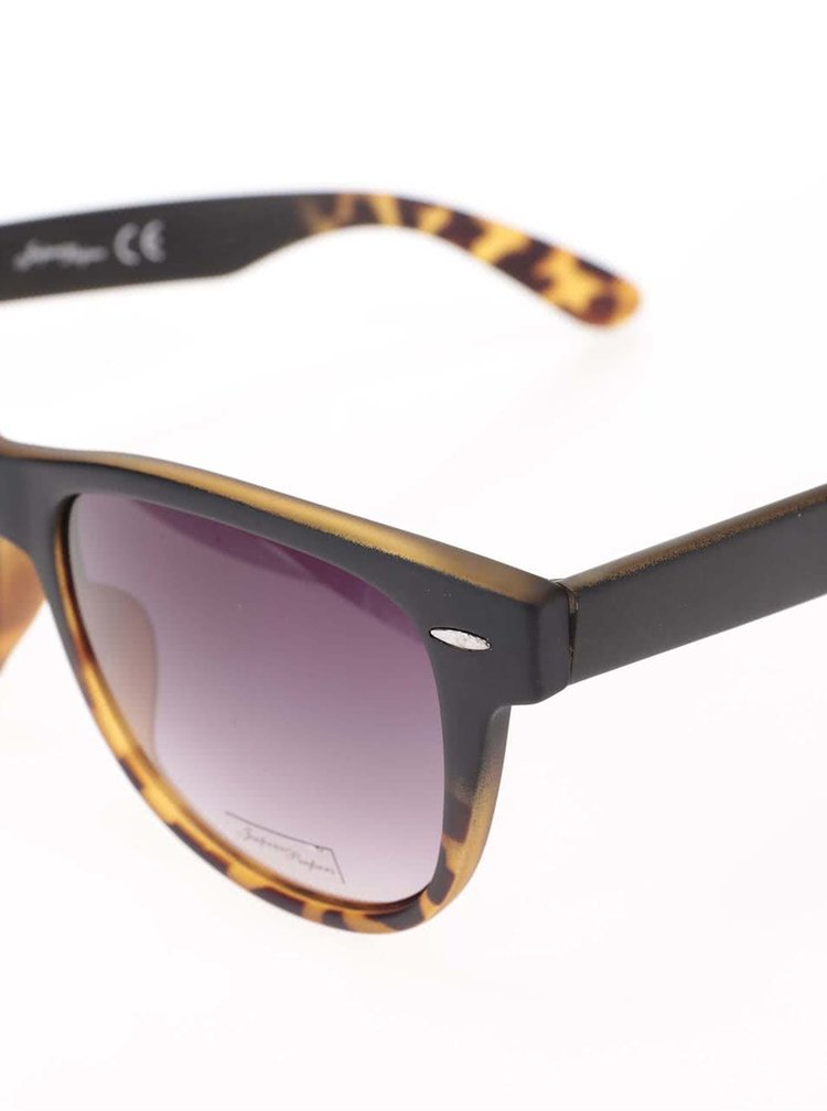 Hnedé dámske slnečné okuliare s geopardím vzorom Jeepers Peepers Winston