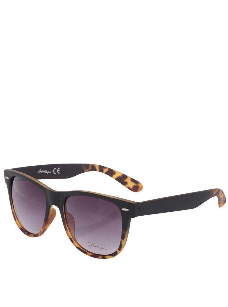 Černo-hnědé dámské sluneční brýle s gepardím vzorem Jeepers Peepers