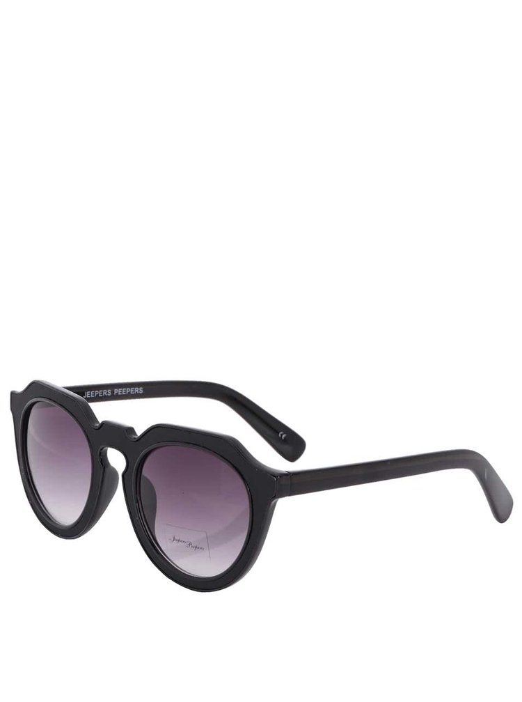 Čierne dámske slnečné okuliare s masívnymi rámami Jeepers Peepers