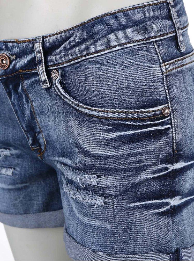 Pantaloni scurți Cars Sara albaștri prespălați