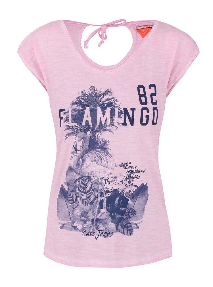 Světle růžové tričko s potiskem Cars Cammeron