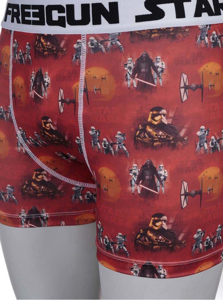 Červené boxerky s motívmi Star Wars Freegun
