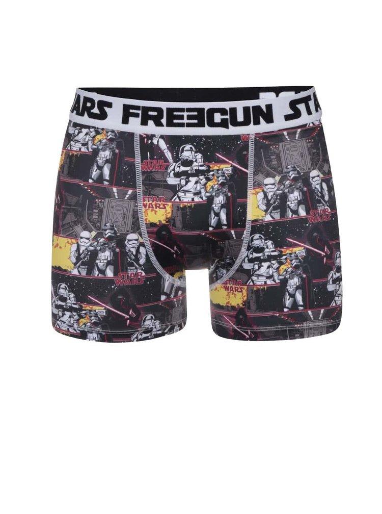 Boxeri Freegun negri cu imprimeu Star Wars