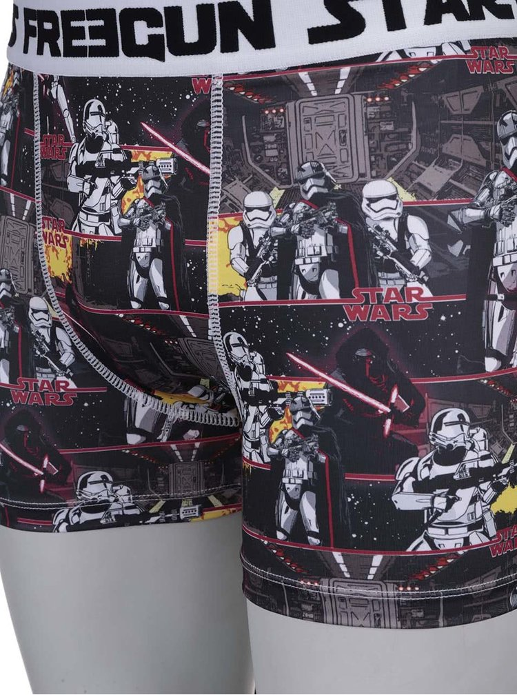 Žluto-černé boxerky s potiskem Star Wars Freegun