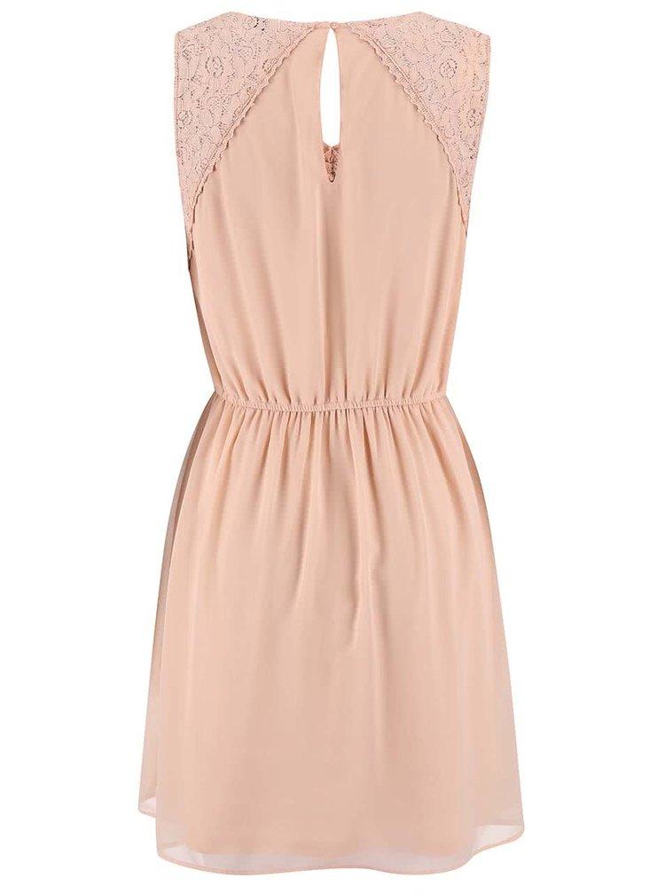 Ružové šaty s čipkovanými detailmi ONLY Matilda