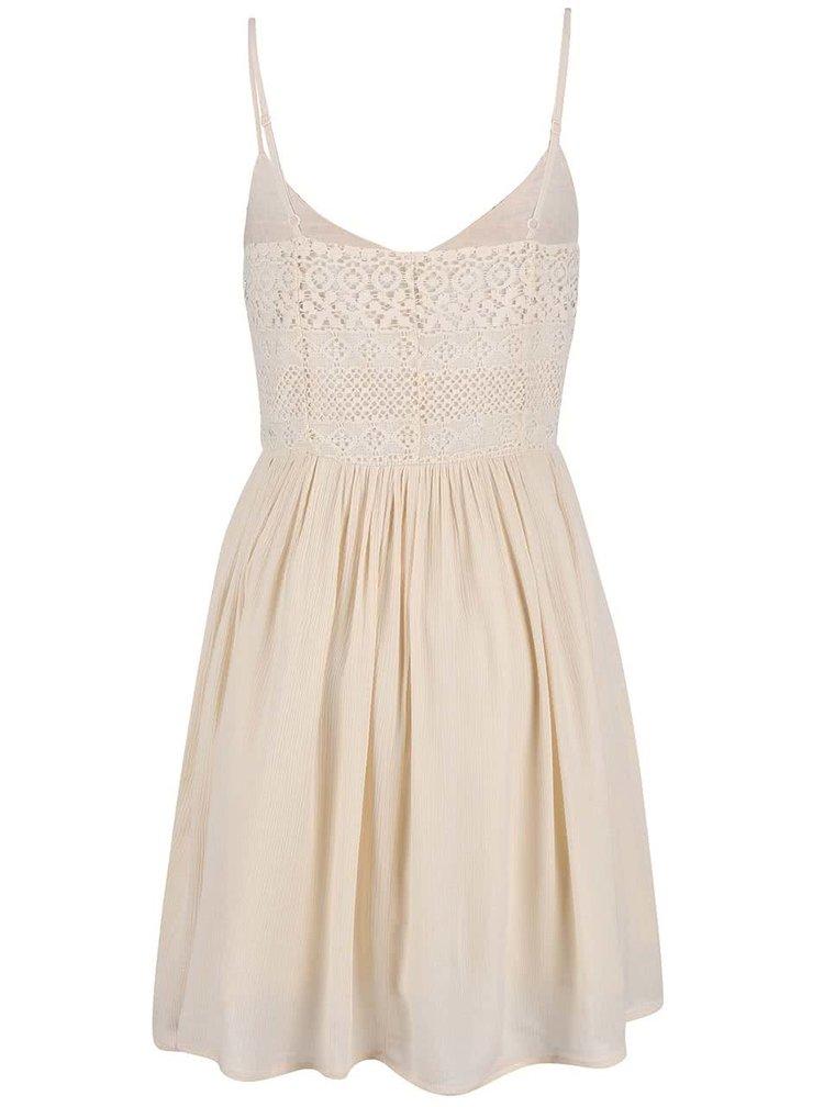 Béžové šaty ONLY Addy