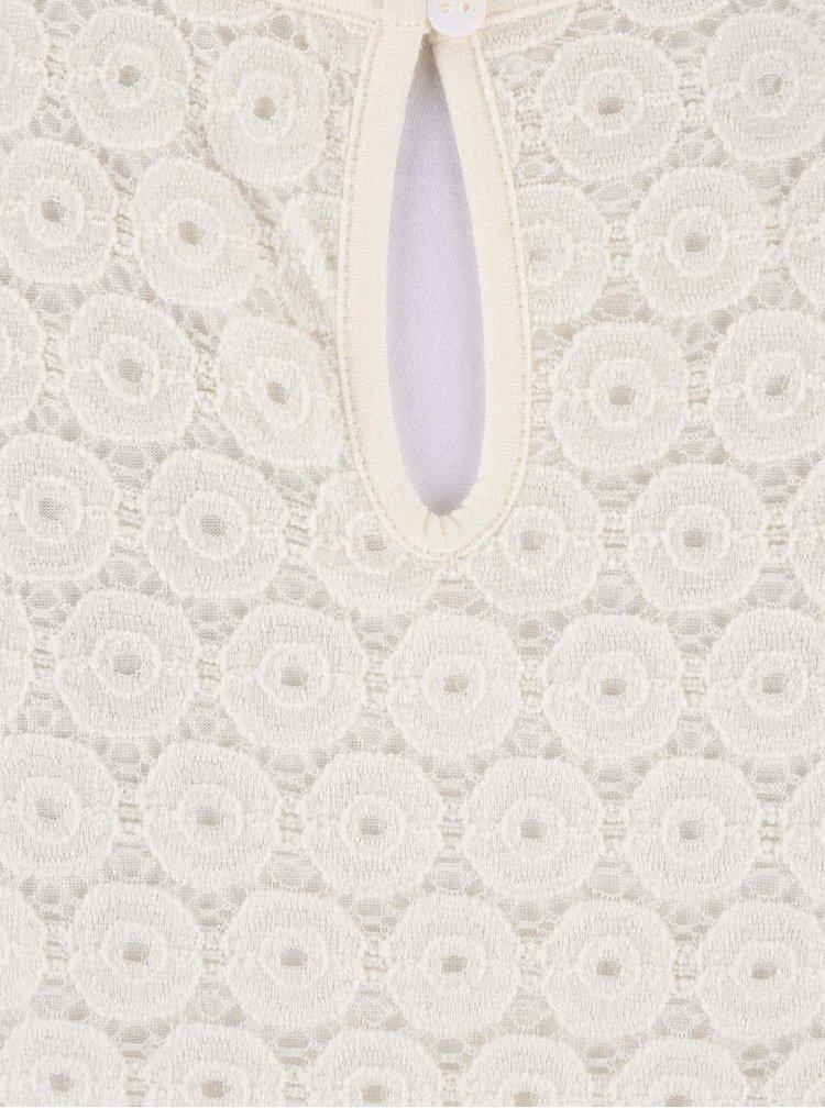 Krémové šaty s čipkovaným topom ONLY Princess