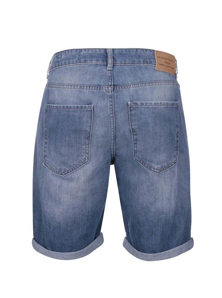 Modré džínové kraťasy Selected Homme Alex