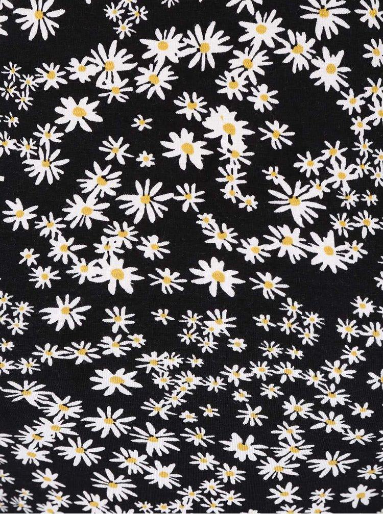 Rochie ONLY Daisy neagră cu imprimeu