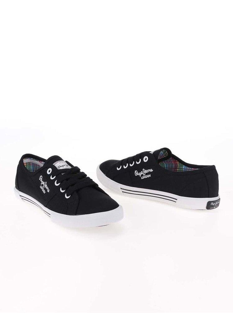 Čierne dámske tenisky Pepe Jeans