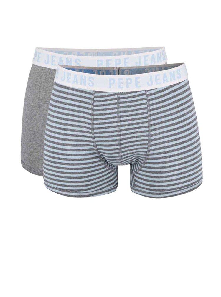 Sada dvou boxerek v modré a šedé barvě Pepe Jeans Felix