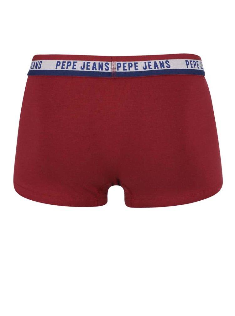 Boxeri Pepe Jeans Edgware roșu burgundiu