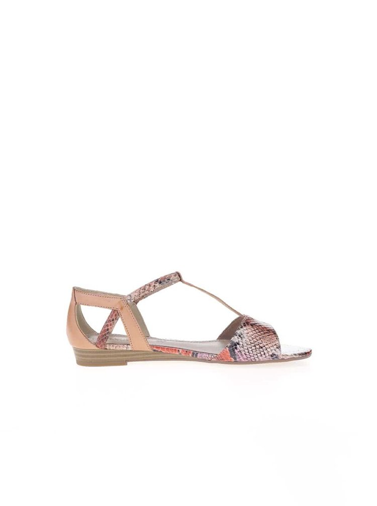 Barevné sandály s páskem přes nárt s.Oliver