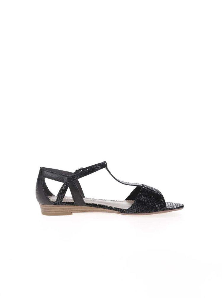 Černé sandály s páskem přes nárt s.Oliver