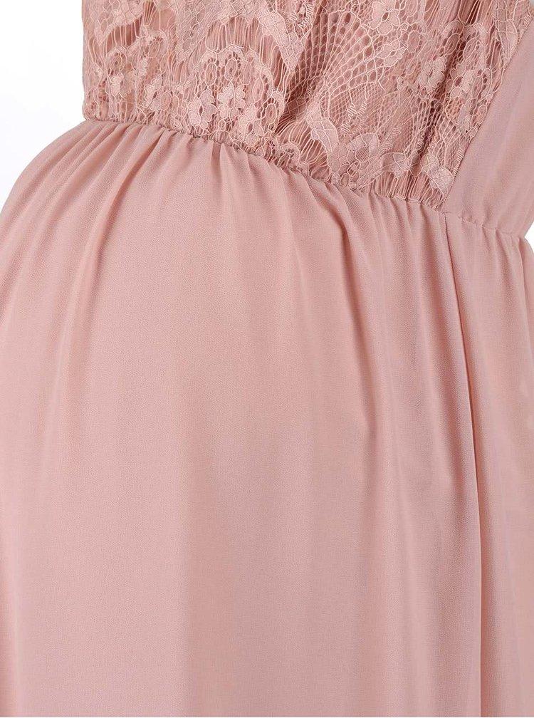 Starorůžové těhotenské šaty Mama.licious Yam