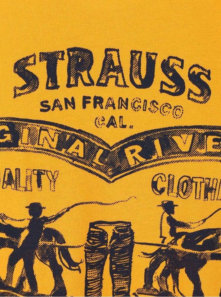 Žlté pánske tričko s potlačou Levi's®
