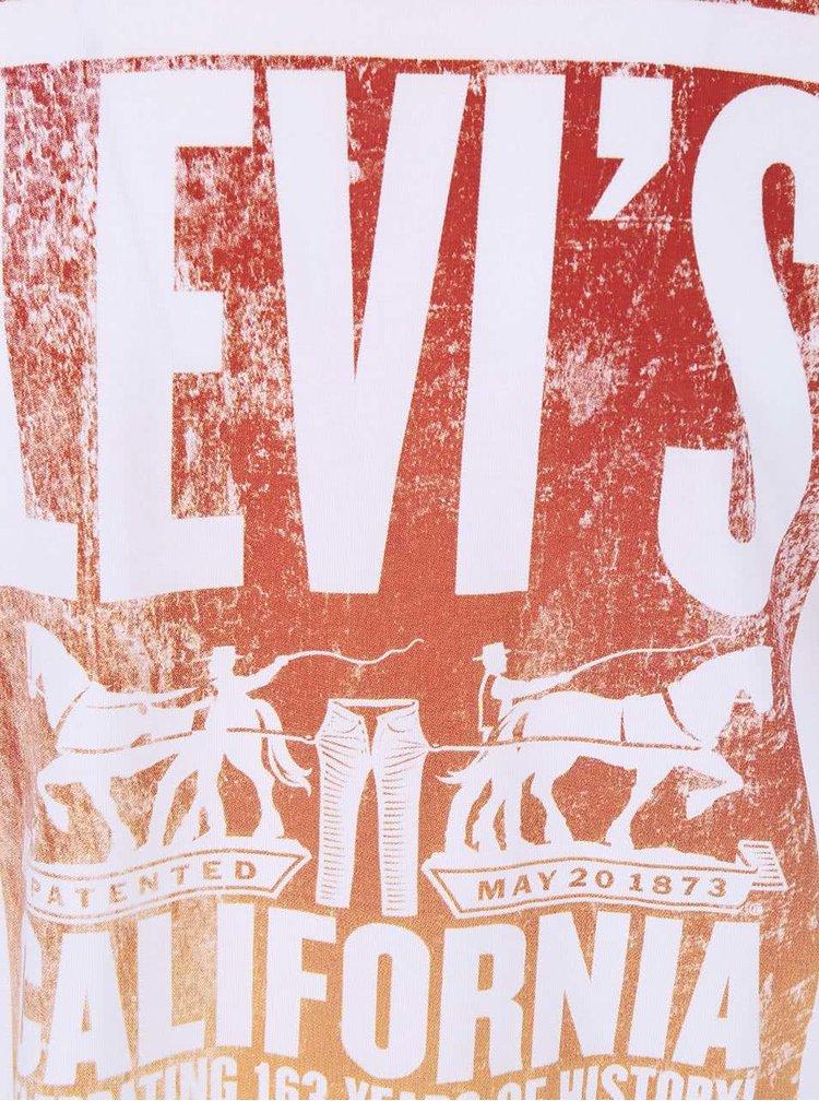 Tricou Levi's® bărbătesc alb cu model