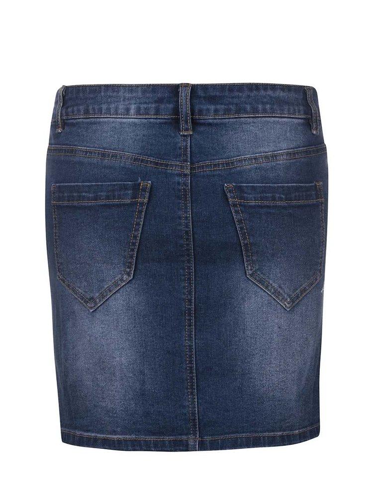 Modrá rifľová sukňa VERO MODA Be Lea