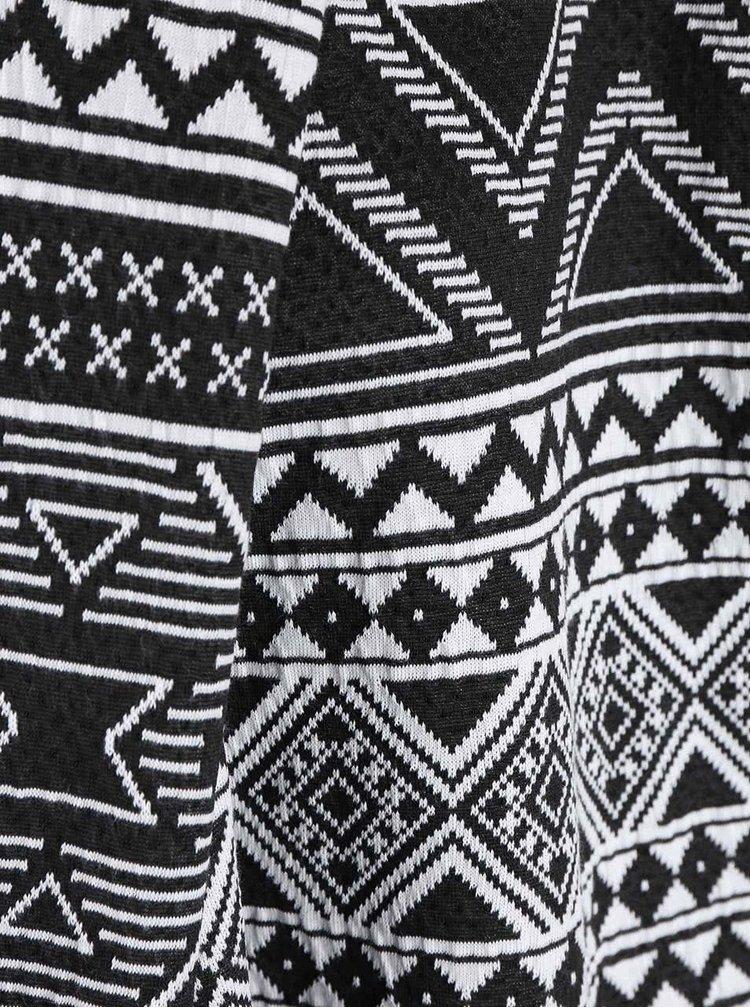 Bílo-černý vzorovaný cardigan ONLY Ikom