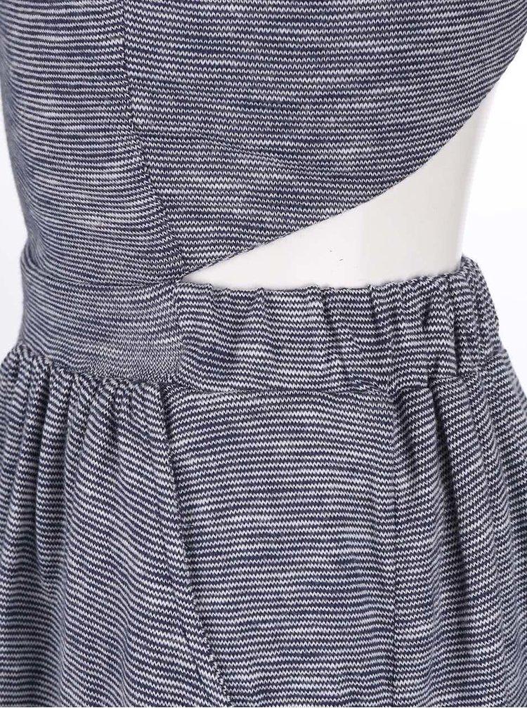 Sivé pruhované šaty Roxy Boat