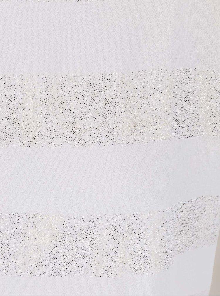 Krémový dámský top s pruhy ve zlaté barvě Alchymi Auriga