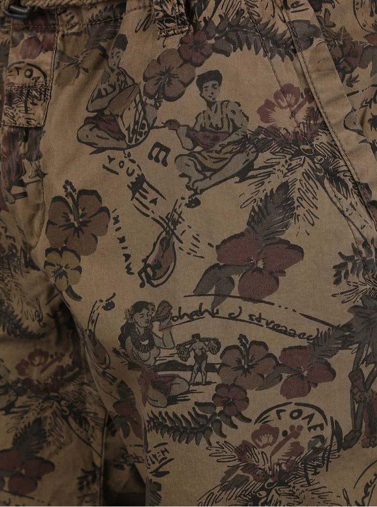 Pantaloni scurți Dstrezzed maro cu print tropical