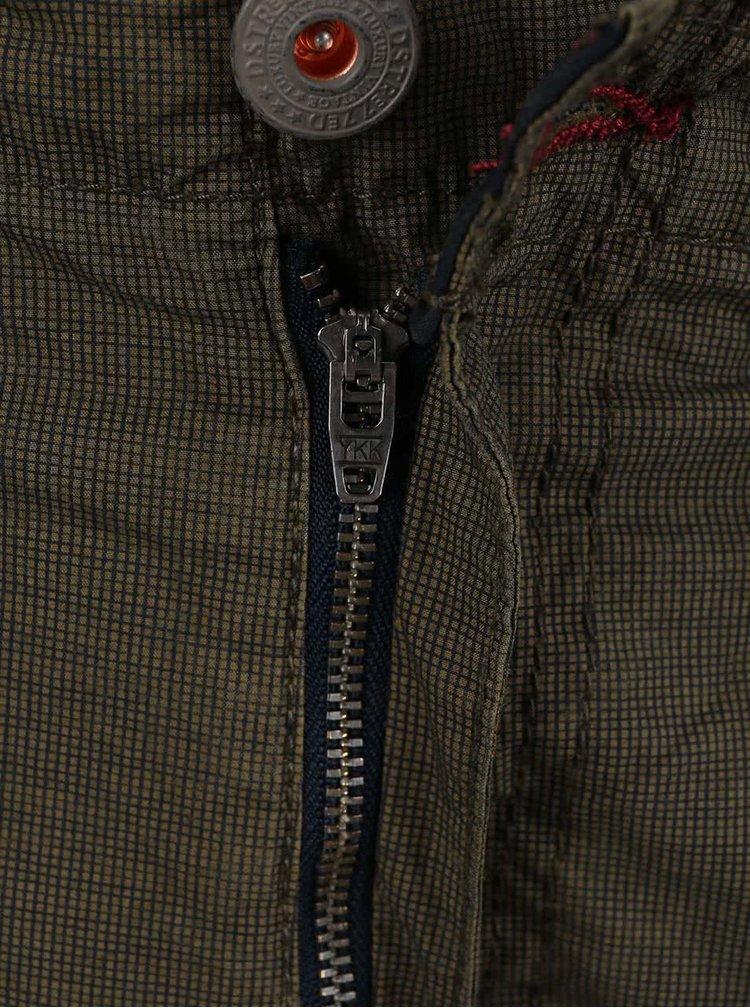 Kaki kapsáčové kraťasy s opaskom Dstrezzed