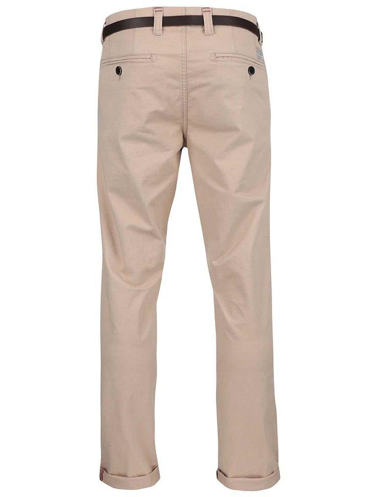 Béžové kalhoty s páskem Dstrezzed