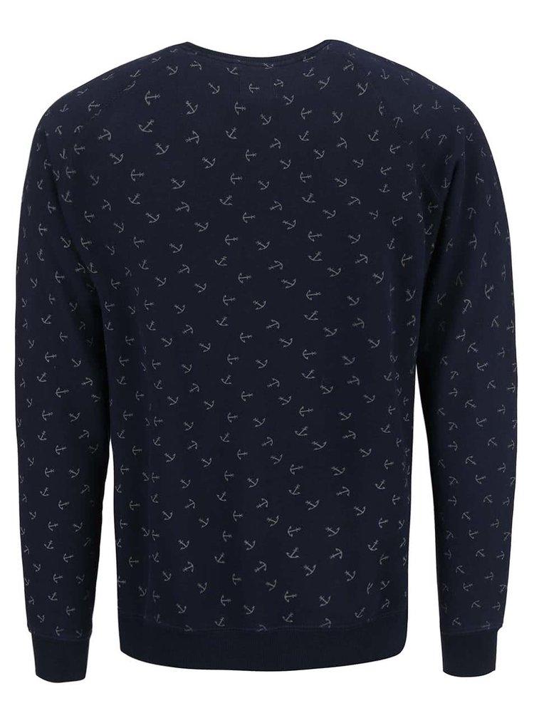 Bluza Dstrezzed navy cu print