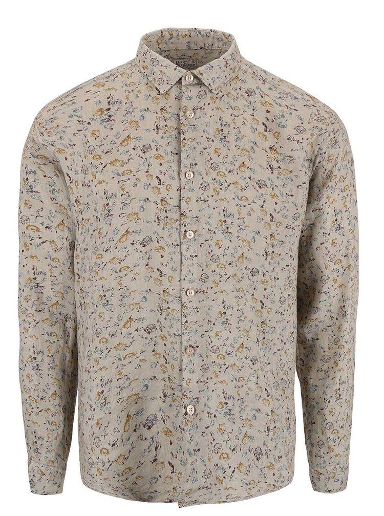 Sivobéžová košeľa s drobným vzorom Dstrezzed