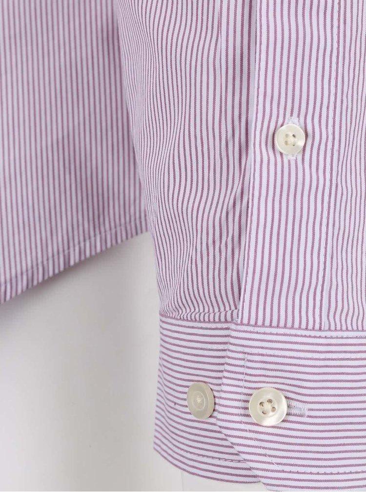 Cămașă Original Penguin Dressy crem/roz cu dungi