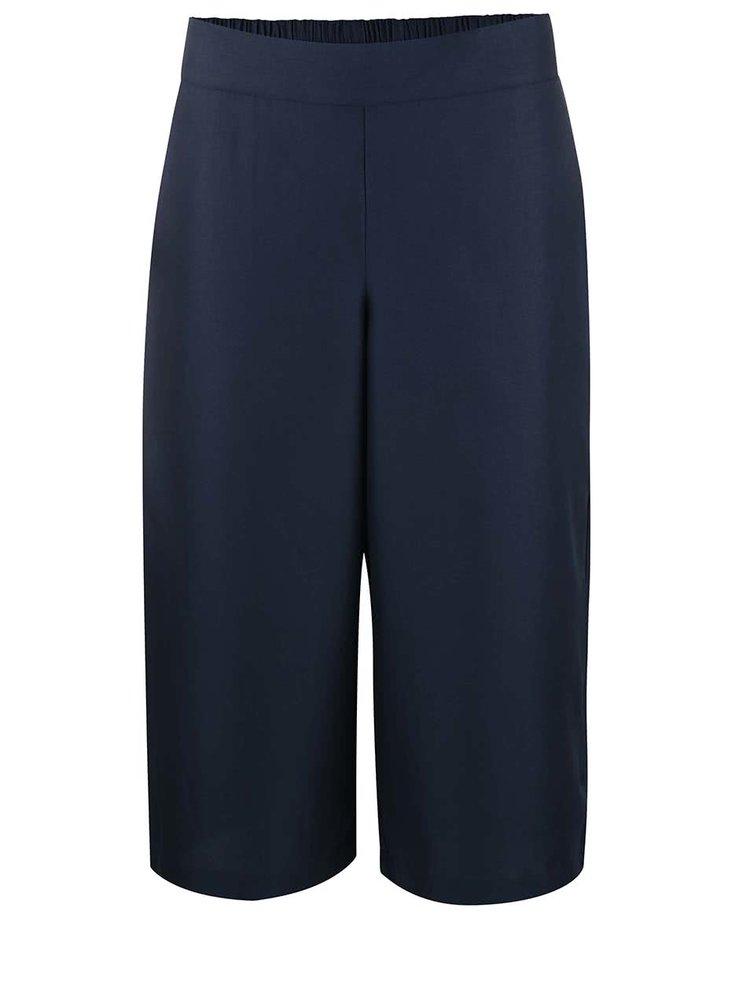 Pantaloni VERO MODA Mala Culottes albaștri închiși